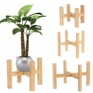 Bonsai Display Stand Wood Flowerpot Holder Floor-Standing Flower Pot Base