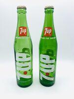7up Vintage Glass Soda Bottoe 16 FL Ounces Columbus Oh Management
