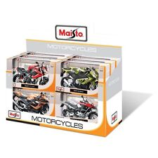 Maisto 1:12 Diecast Motorcycle With Suspension (Colours & Styles May Vary)
