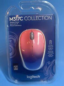 Logitech Logi Wireless Mouse M317C Design Collection Blue Blush New Sealed