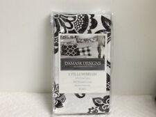 Charter Club Damask Designs 300TC White/Black Euro Pillowsham NIP