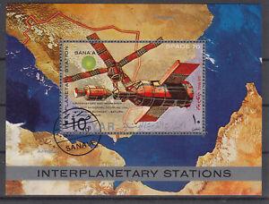 Stamps Briefmarken Jemen Block Raumfahrt  o