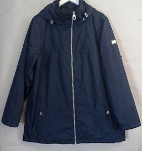 Regatta Ladies Waterproof Jacket UK 20 Hydrafort Navy Blue Hooded Coat Walking
