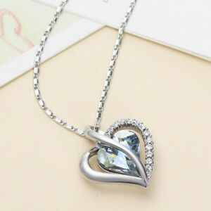 Made with Swarovski Elements Statement Heart Pendant & Necklace Valentines Gift