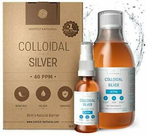 Highest Purity Concentrated Colloidal Silver 300ml, 40 PPM - Free Spray to Fill