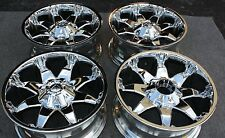 "FUEL OCTANE WHEELS Ford F150 RIMS 20x9"" Chrome SET OF 4 NEW OFF ROAD -12 offset"
