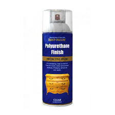 x2 Rust-Oleum Ultra-Tough Polyurethane Clear Varnish Aerosol Spray Paint Gloss