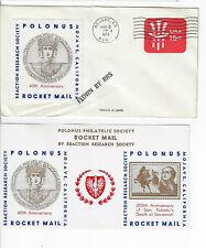 POLONUS/Rocket Mail  1979 cover, label, cancel. souvenir sheet  (PC1979G)