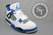 AIR JORDAN 4 IV RETRO 308497-117 MOTORSPORT WHITE GAME ROYAL DS SIZE: 10