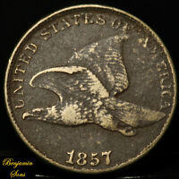 1857 FLYING EAGLE CENT 1c, 052220-03E Free shipping!