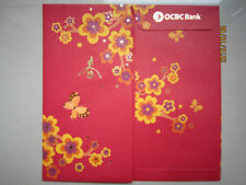 OCBC Flower & Butterfly Chinese New Year Ang Pow/Red Money Packets 2pcs