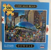 "Dowdle Folk Art ""Chicago Bean""500 Piece Jigsaw Puzzle"