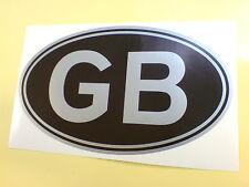 "GB Silver & Black Classic Van Car Bumper Sticker Decal 1 off 5"" or 125mm"