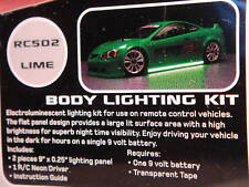 New Green R/C Car Neon Body Light Kit Tamiya/HPI/Ansmann Drift