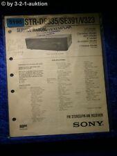 Sony Service Manual STR DE335 /SE391 /V323 FM/AM Receiver (#5196)