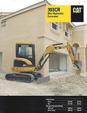 2002 Caterpillar 303Cr Mini Hydraulic Excavator 7 Page Brochure
