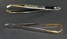 Augenbrauenpinzette vergoldet Zupf Pinzette Haarzupfpinzette Solingen 8 cm Etui