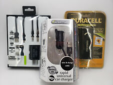 DURACELL PORTABLE POWER BANK + IESSENTIALS 4 PC CHARGING KIT & RAPID CAR CHARGE