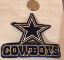 """Dallas Cowboys NFL vintage CLASSIC embroidered iron on patch 4""""x 3"""""""