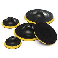 3/4/5/6/7'' M14 Black Backing Plate Car Pad Polisher Buffing Hook&Loop Discs G1