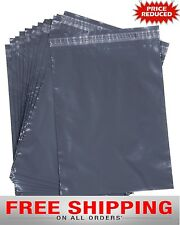 "50 STRONG GREY PLASTIC POLY MAILING BAGS 10""X 14""  POST POSTAL ENVELOPES"