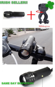 Bicycle Light LED LED Front Cycling Bike Bicycle Lights WITH BATTERIES