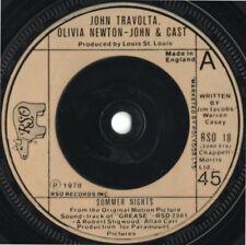 "John Travolta & Olivia Newton-John – Summer Nights Vinyl 7"" Single UK RSO 18"