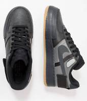 1Nike Air Force 1 Type Mens Trainers Size 11 & 12 UK Black Gum Shoes CJ1281-001