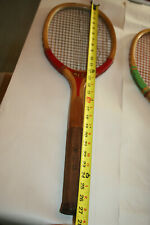 Antique  1920s Wright & Ditson Wood Tennis Racquet WLS RED RIBBON nice condition