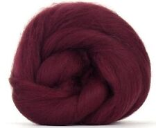 4 Ounces Corriedale Wool Combed Top/Roving - Burgundy - FREE SHIPPING