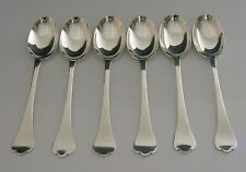 QUALITY ENGLISH SET OF STERLING SILVER TREFID PATTERN SPOONS 1934 HEAVY 104g