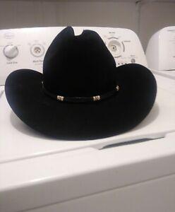 Resistol XXX Self Conforming  7 1/2 Beaver Felt Western Cowboy Hat Long Oval