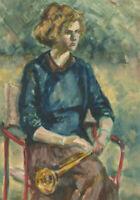 Ann Matthews - 20th Century Oil, Lady with a Trumpet