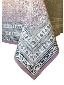"Anokhi 60""x 90"" Soft Violet Rectangular Cotton Tablecloth"