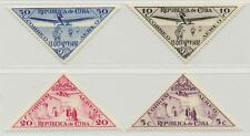 Caribbean 1936 Unissued Unlisted Columbus Airmail Triangles MNH