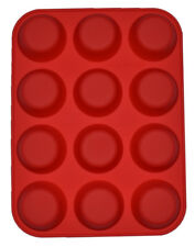 Silicone Muffin Cup Tray Pan Cupcake Mould Baking Mold Non Stick 6/8/12 Cups 6 Cavity