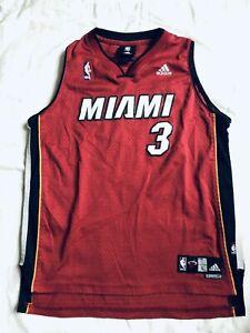 Adidas Miami City Vice #3 D. Wade BOYS Vintage Sewn Swingman Jersey SZ L (14-16)