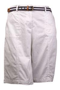 Karen Scott Belted 3-pocket Bermuda Shorts Size 6 COLOUR STONE WALL