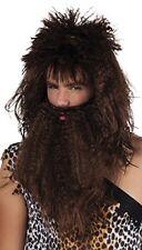 Perruques, barbes et moustaches marrons médiévaux et gothiques pour déguisement et costume