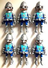 playmobil 6 Knight Rare Figures Lot Bid Novelmore Add On Captain 9835 Helmets