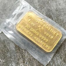 Johnson Matthey London 50 Gram Gold Bar .9999 - Bank of England