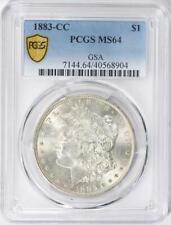 1883-CC Morgan Silver Dollar - PCGS  MS-64 -  Certified Mint State 64  GSA
