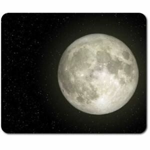 Rectangle Mouse Mat  - Full Moon Night Sky Space Planet  #45082