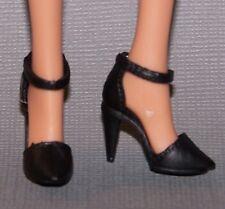 Barbie Doll Shoes Fashionista Evolution Original Petite Black Ankle Strap Heels