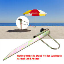 Outdoor Umbrella Holder Anchor Stake Beach Sand Stand Beach Shade Fishing New