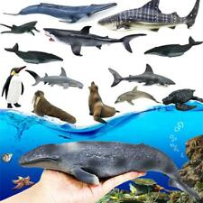 12pcs/Box 3D Sea Life Sharks Dolphin Simulation Animal Model Toys Kids Gift New