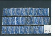 wbc. - GB - GEORGE V1 -G701- 1950/51- DEFINITIVES colour change- 1d. x 30 - USED