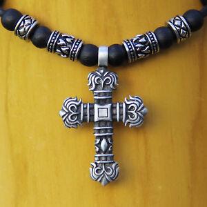 Lederkette Surferkette Herrenkette Herrenhalskette Kreuzkette Halskette Kreuz
