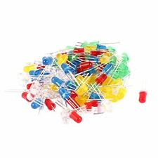 100 Pcs 5mm Red Green Yellow White Blue LED Emitting Diodes DC 2.5V-3V