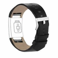 iGK Bracelet de rechange en cuir véritable pour Fitbit Charge 2